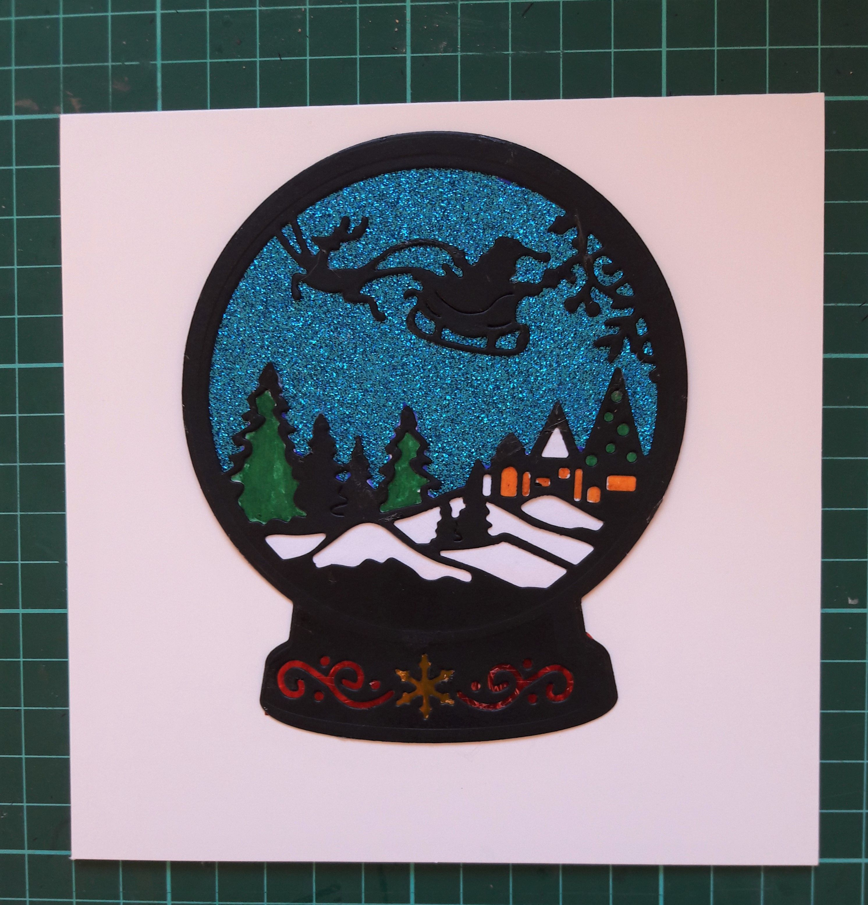 Snow globe card for a grandson who collects snow globes