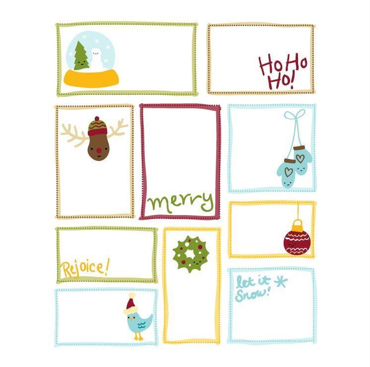 Cutesy Christmas Printable Gift Tags  Tag Templates Free