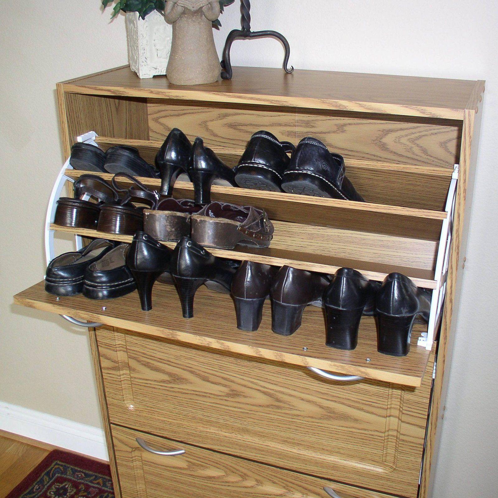 Merveilleux 4D Concepts Deluxe Triple Shoe Cabinet   Oak $159.99