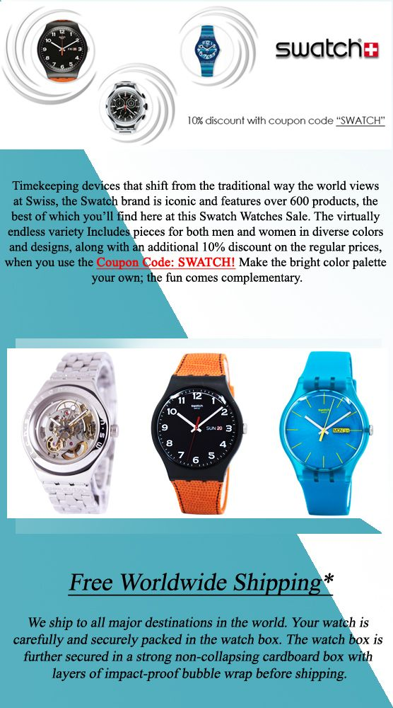 world of watches free shipping promotional code