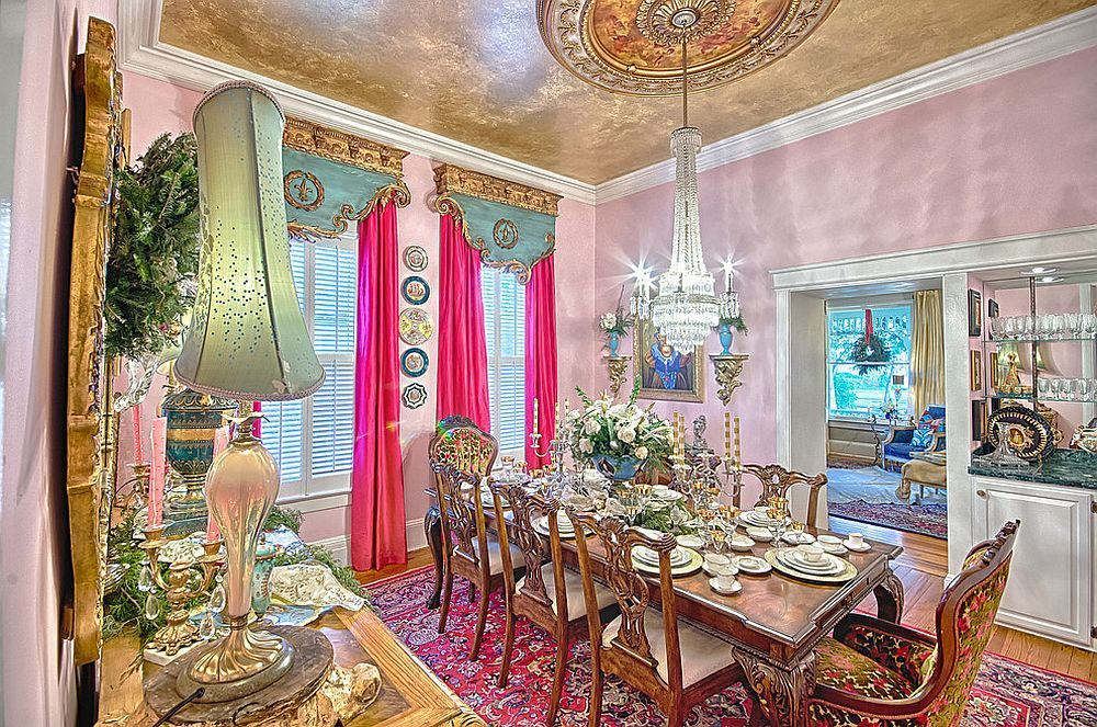 15 Majestic Victorian Dining Rooms That Radiate Color And Opulence Dining Room Victorian Victorian Dining Room Decor Beautiful Dining Rooms Beautiful victorian dining room for