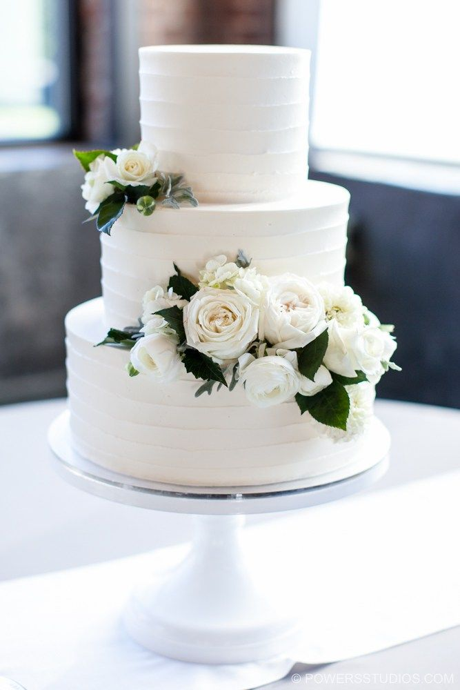 Jessica Josh Buttercream Wedding Cake Simple Wedding Cake Elegant Wedding Cakes