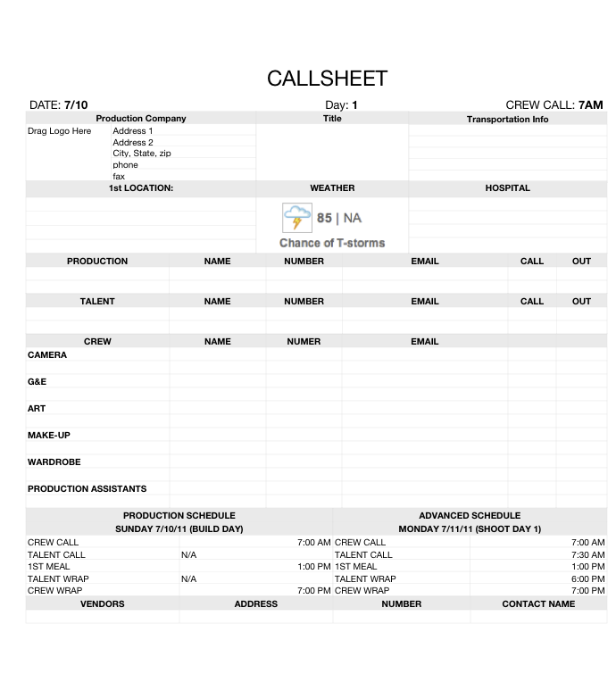 Call Sheet Acting Quotes Film Filmmaking