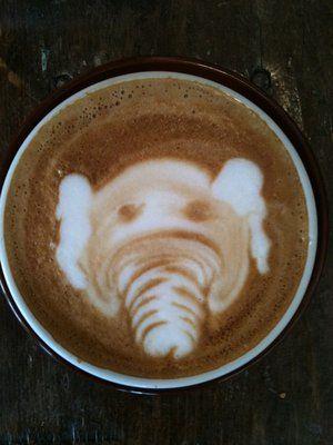 Latte Elephant Dark Horse Espresso Bar 682 Queen Street East Toronto On M4m 1g9 Latte Cafe Art Cafe