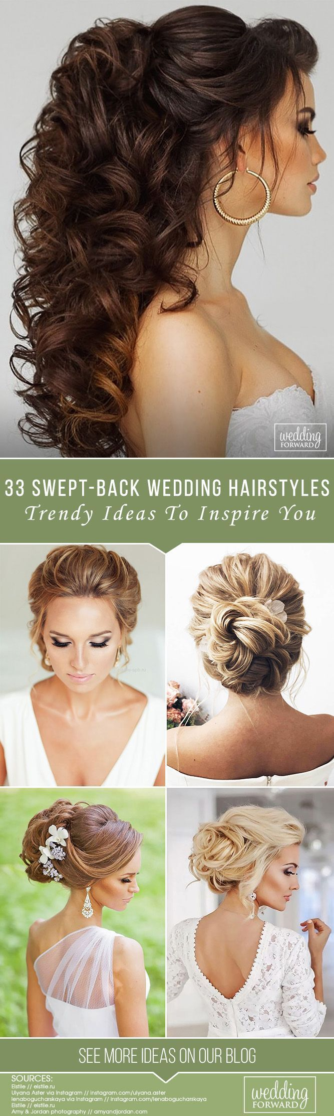 wedding hair styles 36 trendy swept back wedding hairstyles frisuren 3623