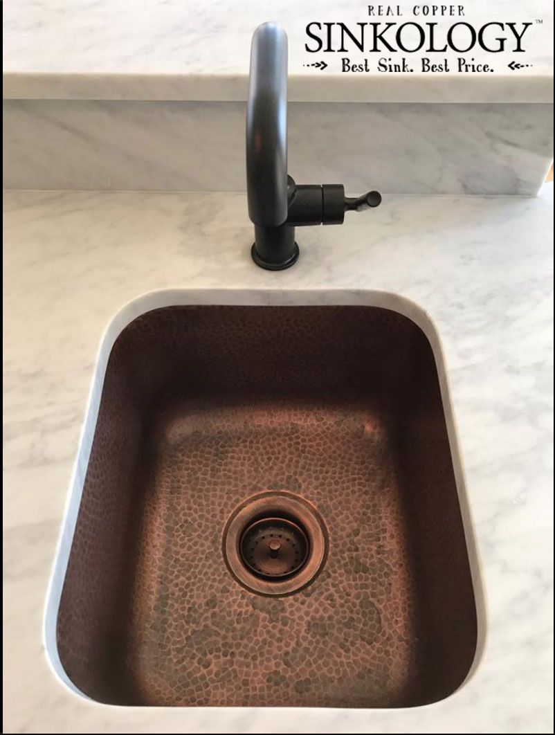 Our Undermount Copper Bar Sink Looks Incredible In This Kitchen Thanks For Sharing David Copper Bar Sink Bar Sink Basement Bar