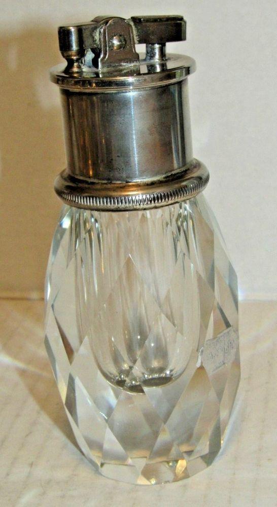 Vintage Glass Table Lighter Art Deco Lighter Art Light Table Glass Table