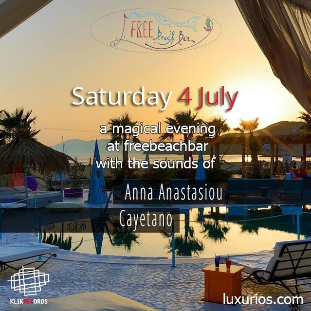 A Magical Evening at Freebeachbar with the Sounds of Anna Anastasiou - Cayetano #greekislands #summer2015 #cayetano #iosgreece