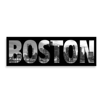Boston Black And White X Wall Art   Bed Bath U0026 Beyond