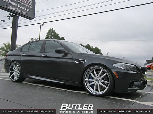 Bmw M5 With 22in Asanti Af507 Wheels Split 5 Spoke Brushed With