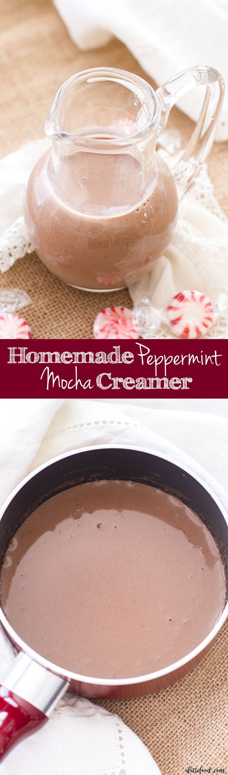 This easy homemade peppermint mocha creamer recipe is made