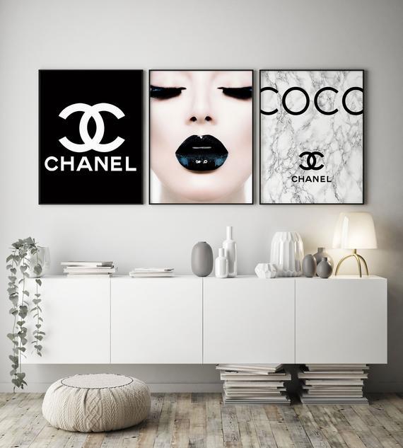 Chanel Chanel Decor Coco Chanel Wall Art Chanel Prints Set