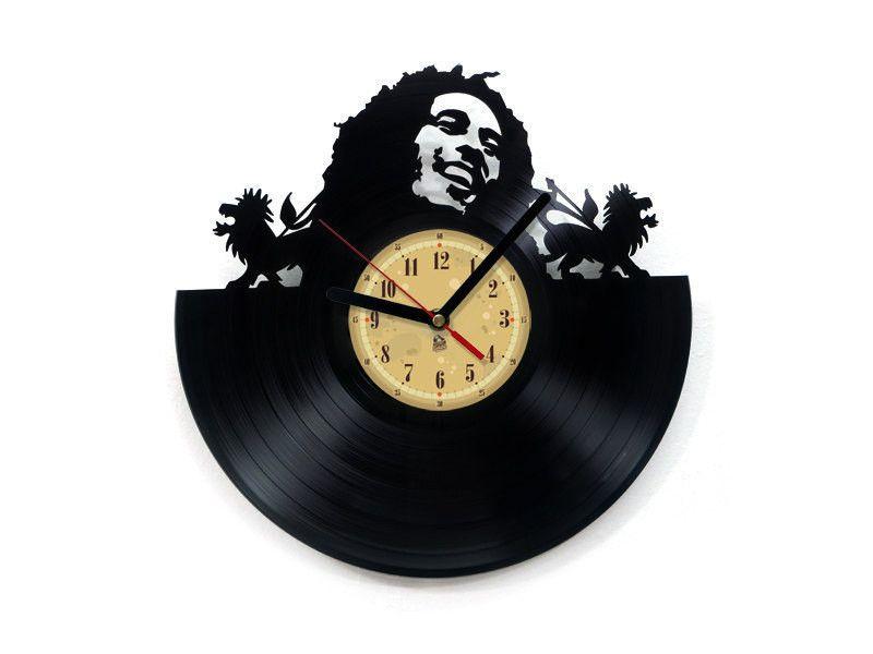 Wohnaccessoires bob marley vinyl schallplatte uhr ein designerst ck von vinyleaters bei - Schallplatten wand ...
