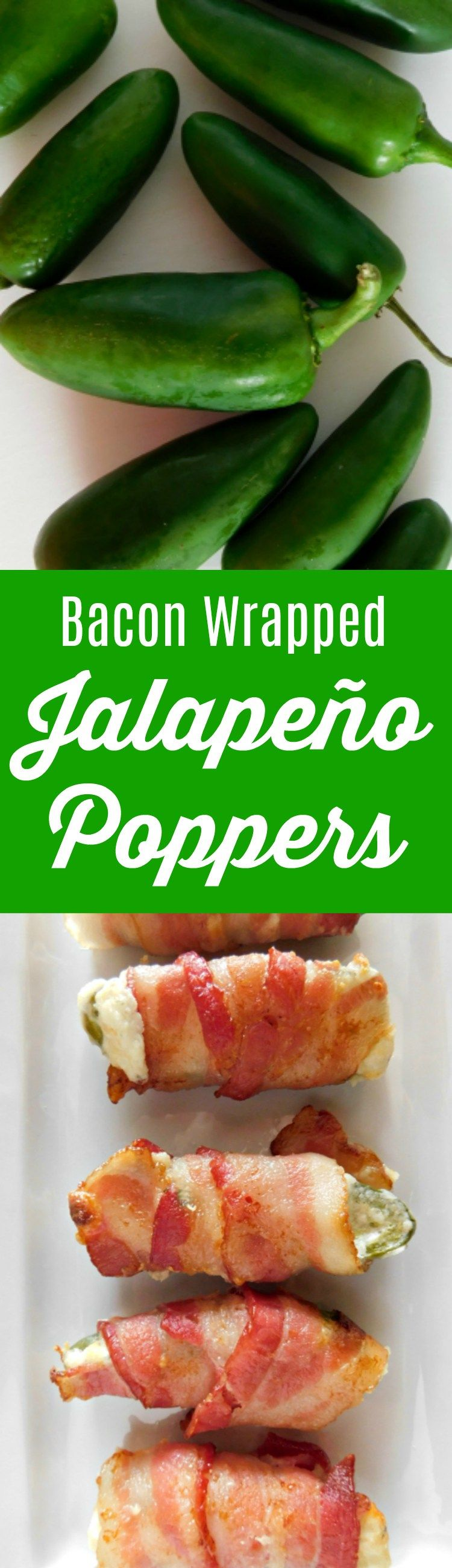 Bacon Wrapped Jalapeño Poppers #tailgatefood