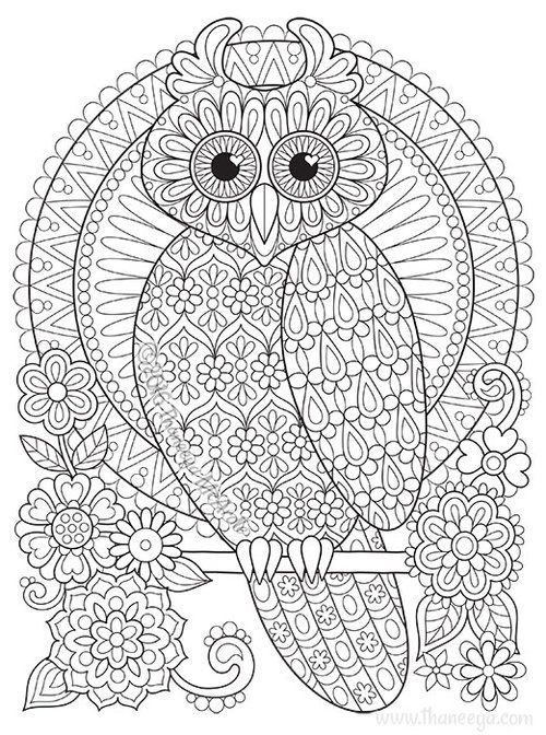 Owl Coloring Page From Thaneeya Mcardles Groovy Owls Coloring Book - Owl-coloring-pages-printable