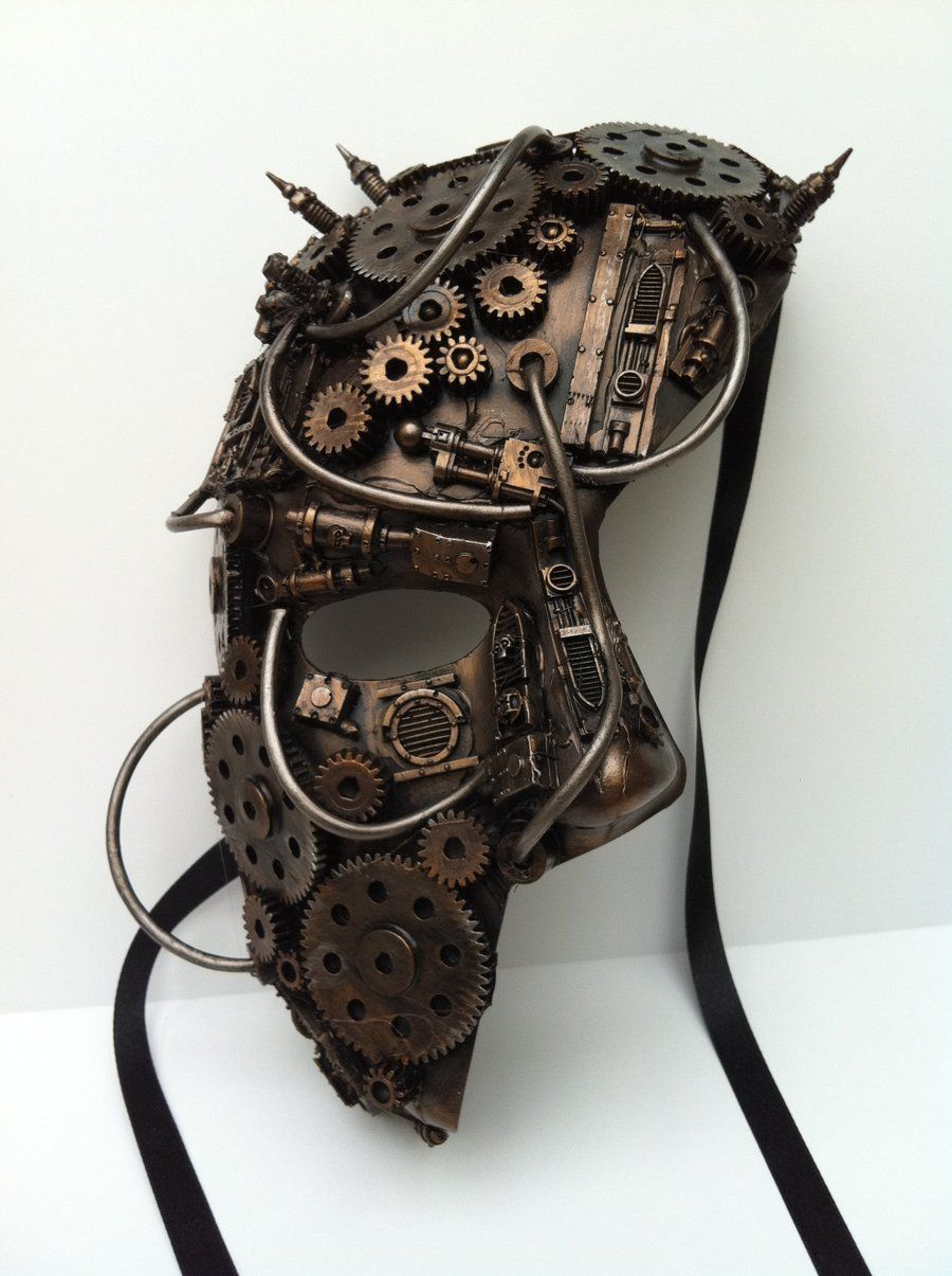 00de26c8f7 Phantom Mask Steampunk Style. Clockwork mask by  richardsymonsart.deviantart.com on  deviantART