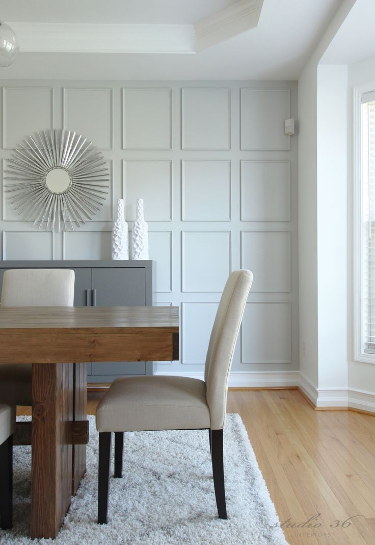 Wall Treatment With Thin Moulding Instead Of Traditional Board And