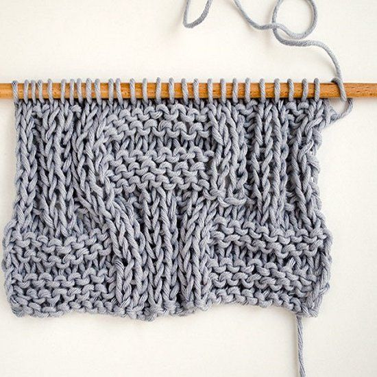 Learn the steps to knit the big basketweave stitch ...