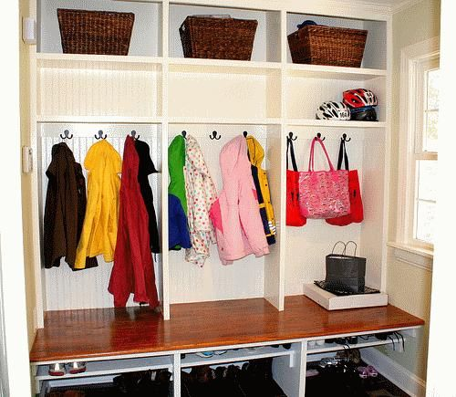 Simple Mudroom Cubbies