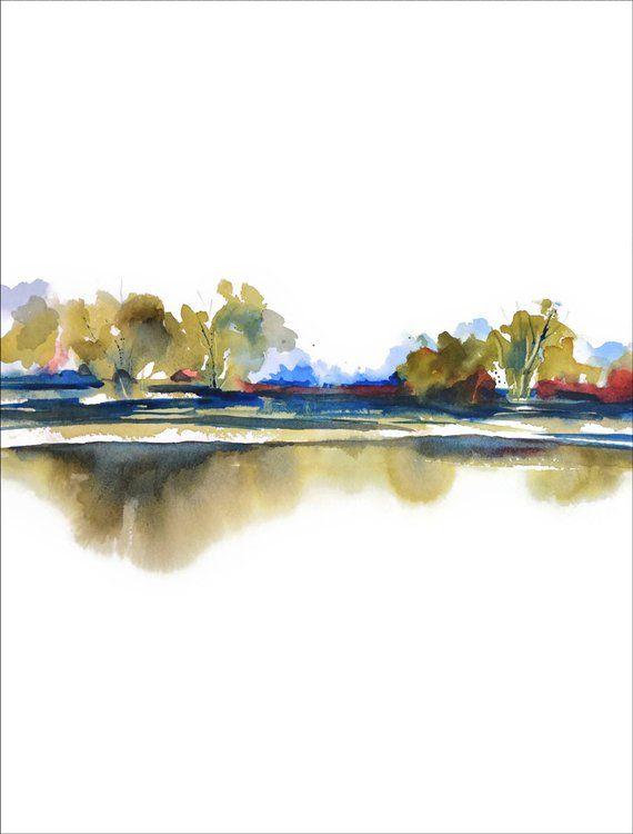 Peinture Verticale D Aquarelle D Aquarelle D Olive Decor Abstrait