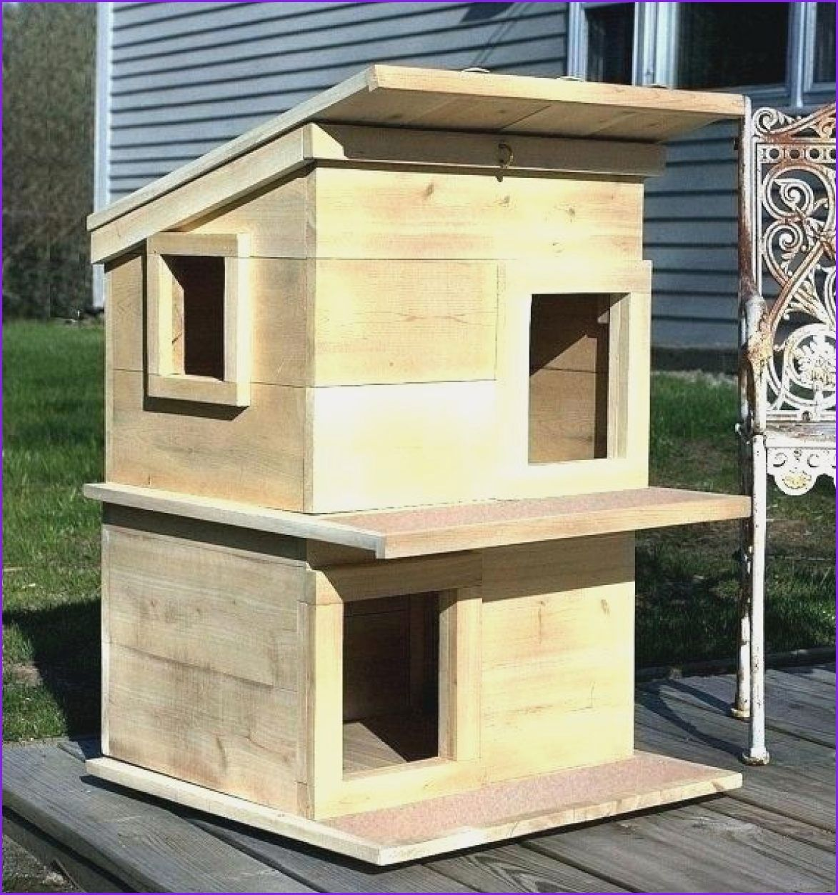 Awesome Cat House Plans Diy In 2020 Outdoor Cat House Cat House