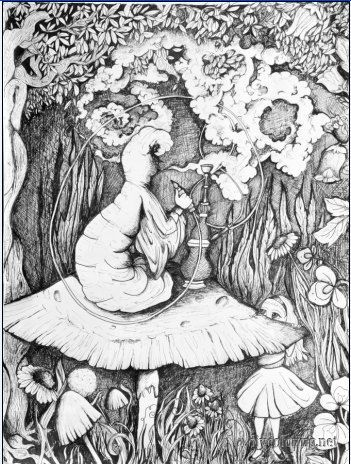 trippy alice in wonderland coloring pages coloring pages