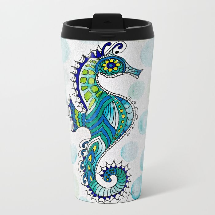 01744d8ab6 Buy Bubbles Metal Travel Mug by paintedapron. Worldwide shipping available  at Society6.com.