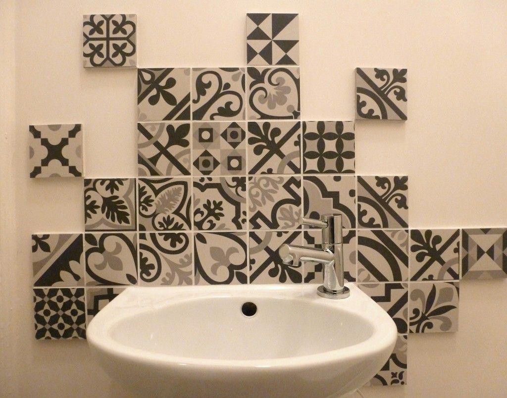 lave main wc carrelage toilette