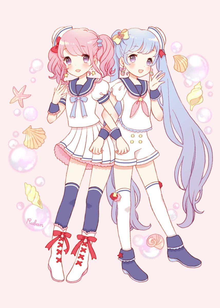 rubanちゃんとmonicaちゃん [1] | rosa y celeste | pinterest | anime