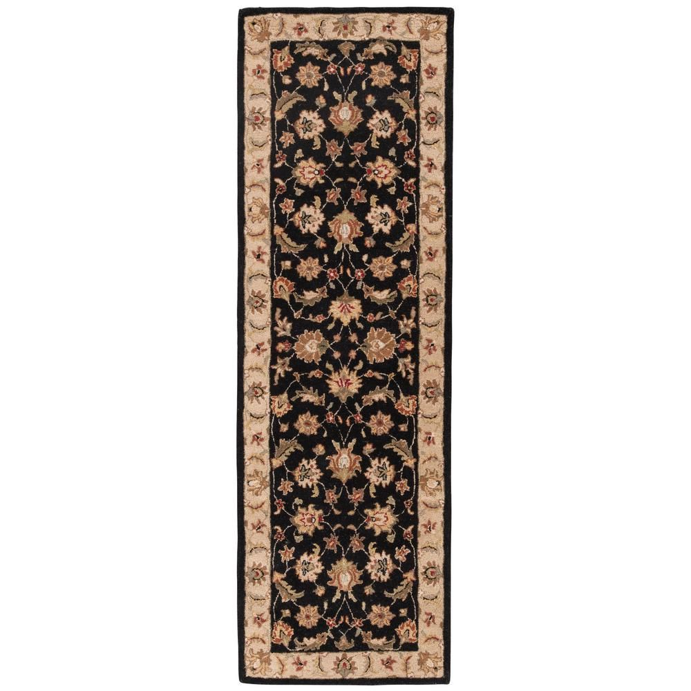 Jaipur Living Hand Tufted Jet Black Fog 3 Ft X 10 Ft Oriental Runner Rug Area Rugs Rugs Black Rug