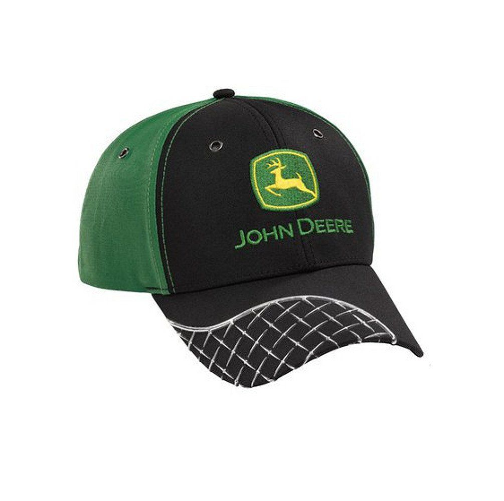 Men s John Deere Diamond Plate Hat Cap (Green Black) -  www.greentoysandmore.com 57139e2cce8