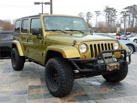 2007 Jeep Wrangler Sahara 71668 Miles Green Exterior Color With A