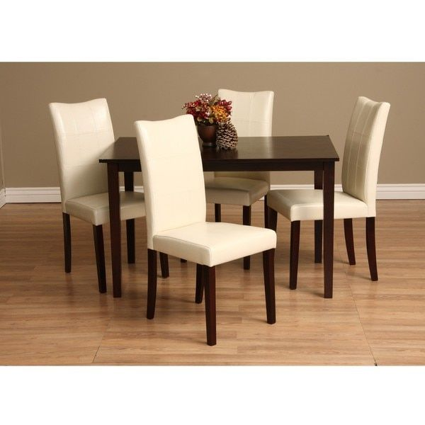 Warehouse Of Tiffany Eveleen 5 Piece Dining Furniture Set By Warehouse Of  Tiffany