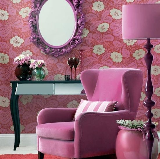 pink living room | Love Pink | Pinterest | Living rooms, Room and ...