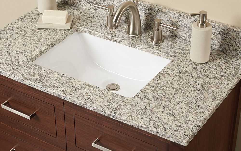 A Granite Bathroom Vanity Top