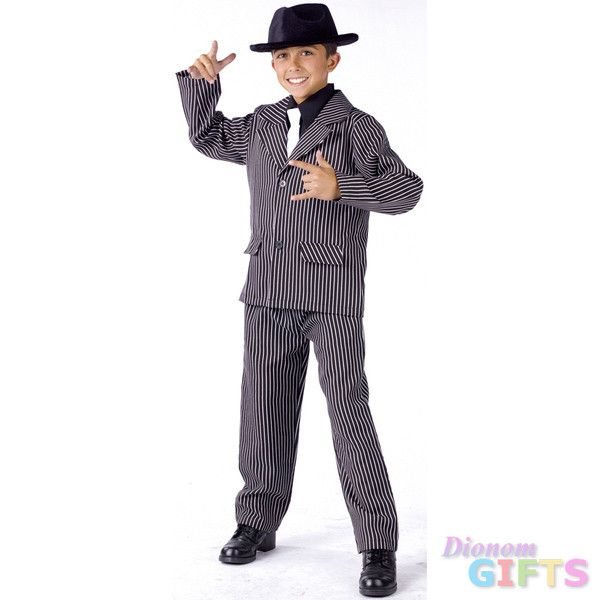 Boy's Costume: Gangster Small 4-6