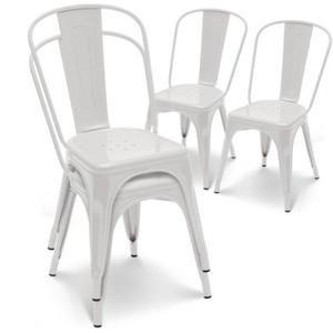 Chaise En Mtal Blanc Style Industriel Indmodable Vendu Par Lot De 4 Les Chaises