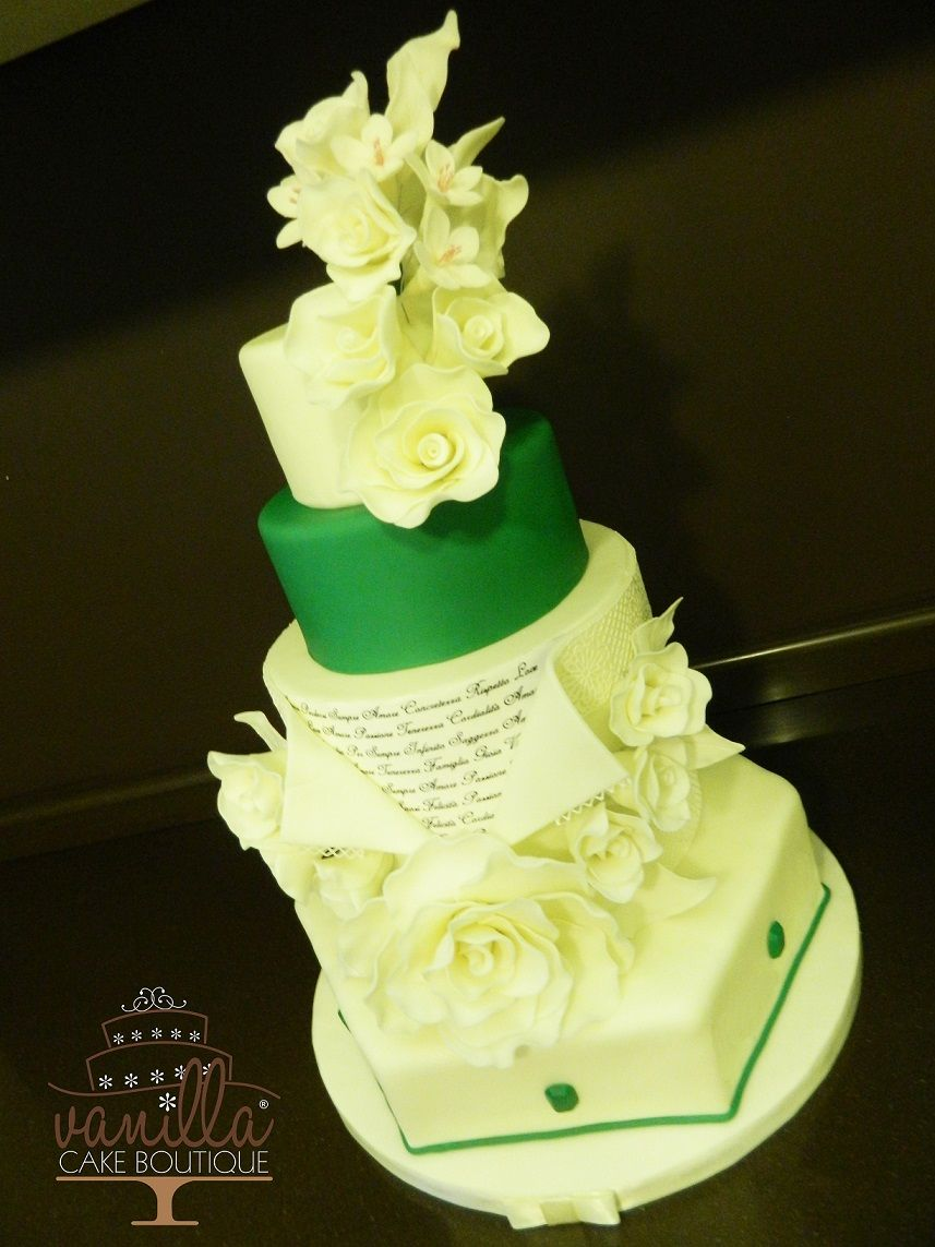 Wedding Anniversary Cake | Emerald cake | Pinterest | Wedding ...