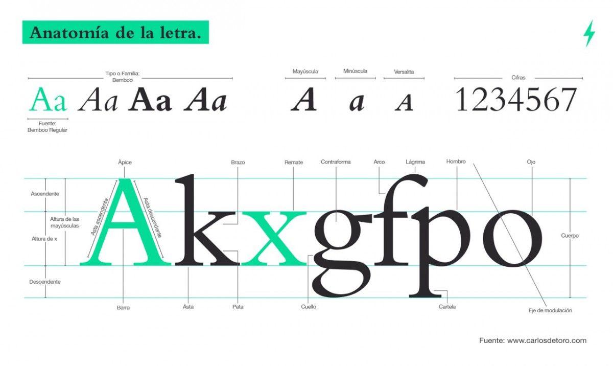 Anatomia d\'una tipografia. By Carlos de Toro | Anatomía de la letra ...