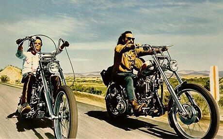 """The American movie, """"Easy Rider"""" that help bring on the love affair."""