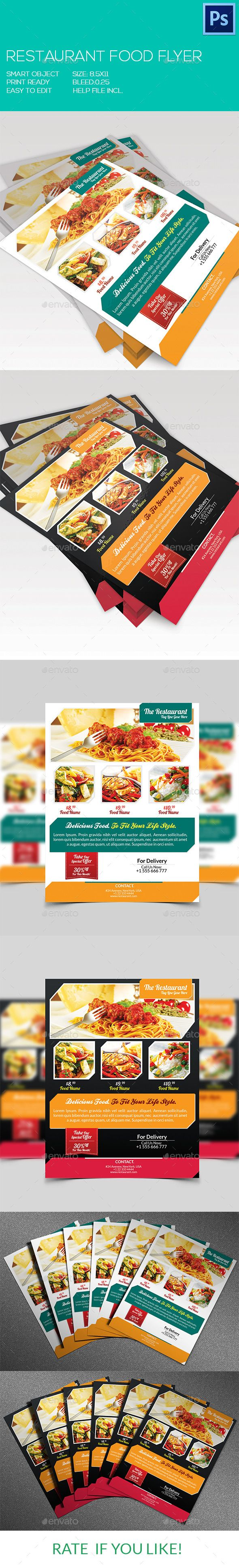 Restaurant Food Flyer  Restaurant Food Flyer Template And