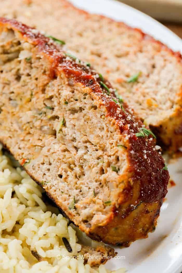 Esta receta de pastel de carne de pavo es húmeda y tierna. ¡Está hecho con pavo magro molido y es el favorito de la familia!
