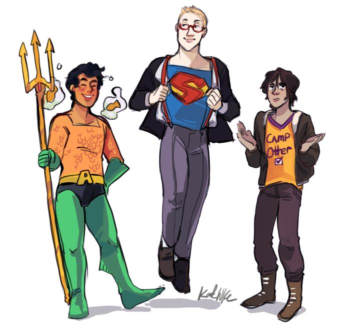 Big three on Halloween. I love the t-shirt of Nico 😂😂😂