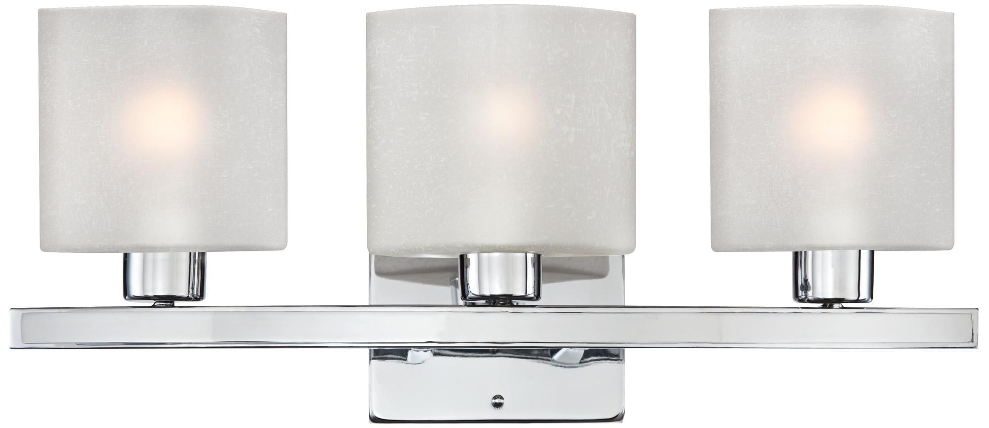 Possini Euro Linen Glass 23 1 2 Wide Chrome Bath Light U1332 Lamps Plus Bath Light White Light Fixture Wall Lights