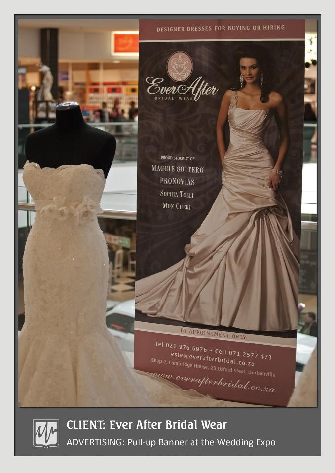 Advertising Pull Up Banner At The Wedding Expo