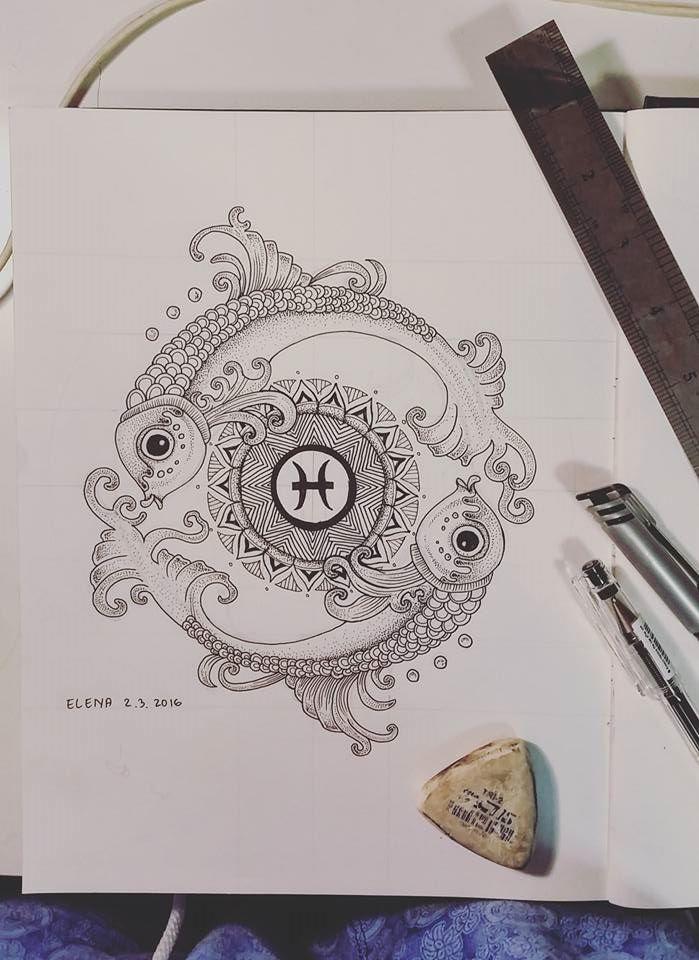 Pisces Mandala Design Dotwork By Elenooshdeviantart On DeviantArt