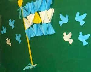 Manualidades Para El Día De La Bandera Argentina Día De La Bandera Manualidades Bandera Argentina