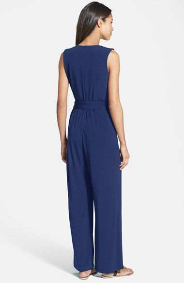 Faux Wrap Jersey Jumpsuit Vince Camuto And Wraps