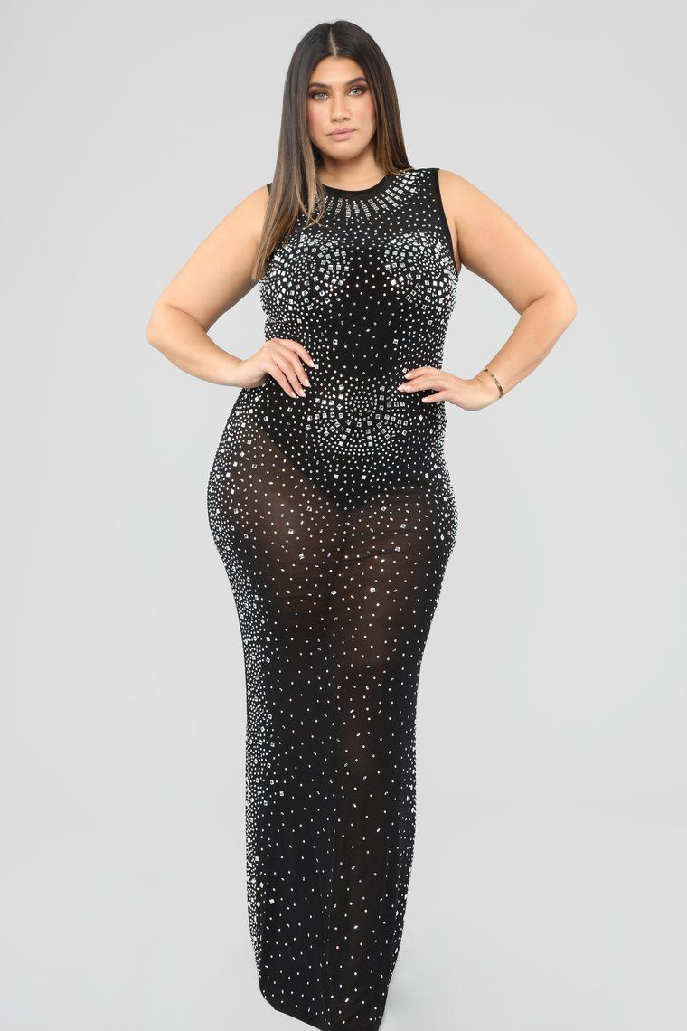 See You Through Mesh Dress - Black in 2019 | Plus size ...