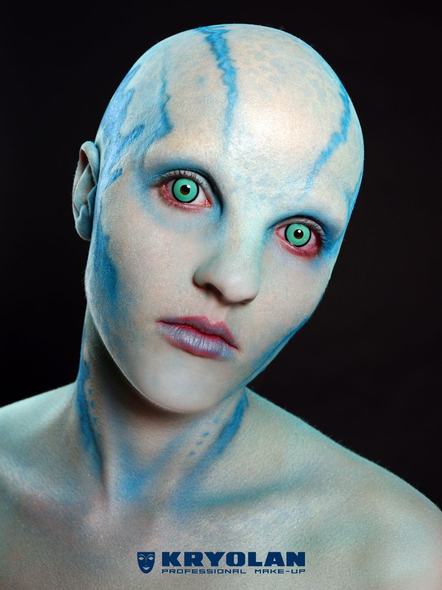 Kryolan's Halloween look of an Alien Queen by Neil Morrill in collaboration with Complections